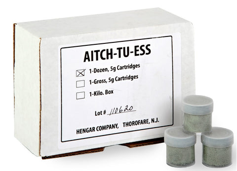 Aitch-Tu-Ess (H2S) Dry Mix for Hydrogen Sulfide Gas, 5g Catridges - Box of 12