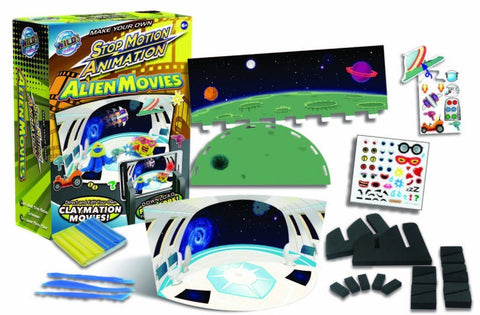 Wild Science Make Your Own Stop Animation Alien Movies Kit