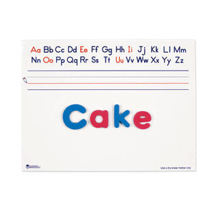 Alphabet Write & Wipe Board, 9 x 12 Dry Erase Whiteboard - Pack of 10