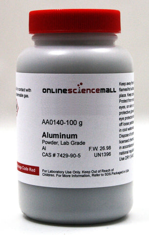 Aluminum Elemental Metal Powder, 100g - Lab Grade Chemical Reagent
