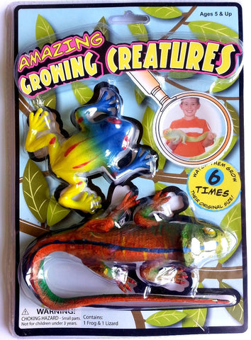 Amazing Growing Creatures Set of 2: Grow Up to 6x Their Size