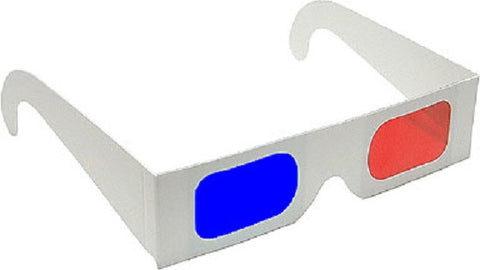 Anaglyph 3D Glasses Red/Blue-View 3D Print and Pictures-Pack of 5