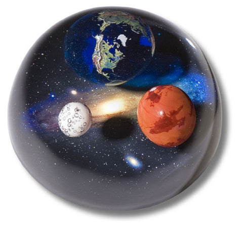 Andromedome - 3.75 Inch Planetary Embedment Paperweight
