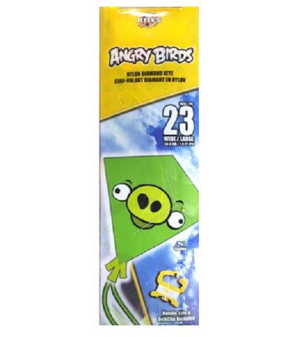 X Kites Angry Birds Nylon Diamond Kite Green Pig