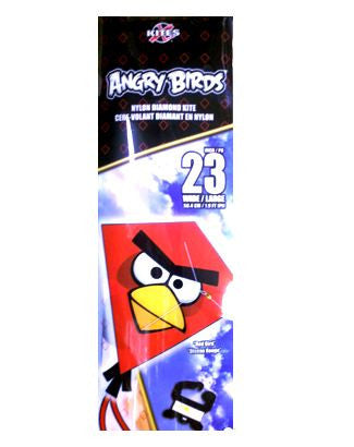 X Kites Angry Birds Nylon Diamond Kite Red Bird