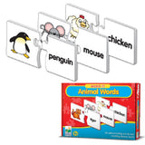 Match It! ANIMAL WORDS Activity-30 Puzzle Pairs