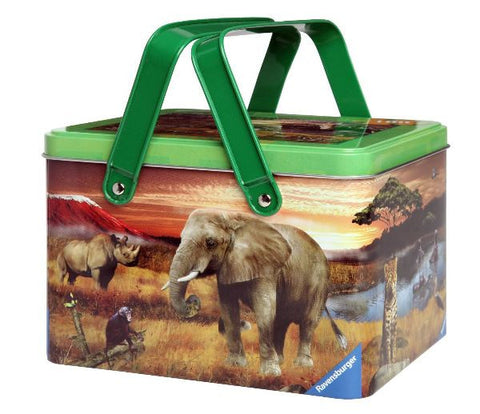 Animal Planet SAFARI FRIENDS Puzzle in Picnic Tin: 100 pc by Ravensburger