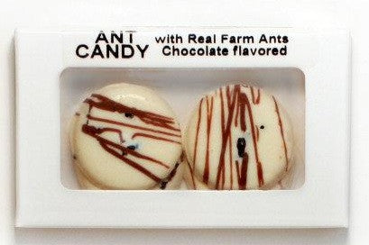 White & Milk Chocolate Wafer Ant Candy with Real Ants, by Hotlix