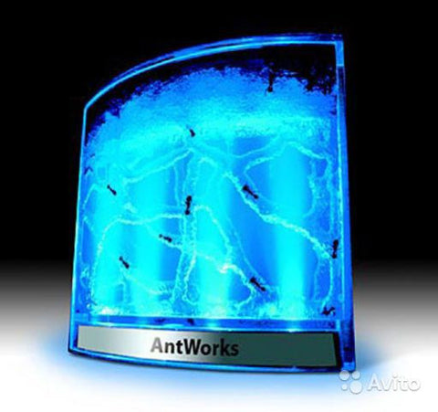 Blue AntWorks Illuminated Space Age Ant Habitat Farm Observatory