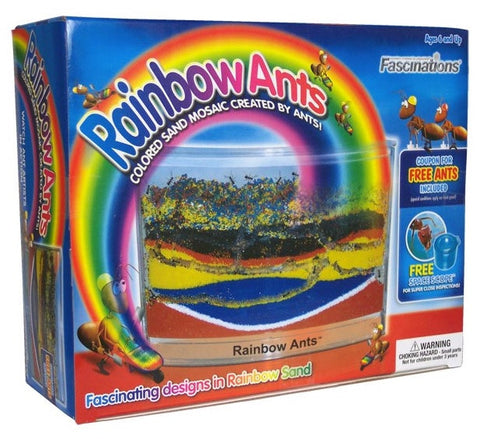 AntWorks Rainbow Ants w/ Multi Colored Sand Habitat Kit SALE