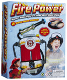 Firefighter Set - Includes Fire Chief Hat and Fireman Super Soaker Hose Backpack