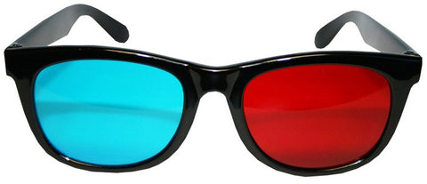 3D Classic Aviation Style Plastic Glasses Anaglyphic (Red/Cyan)
