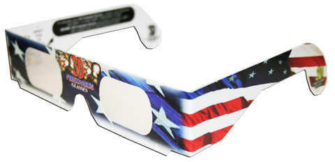 3D Fireworks Glasses Patriotic Flag Design, See Starbursts In Every Point Of Light, Pack of 10