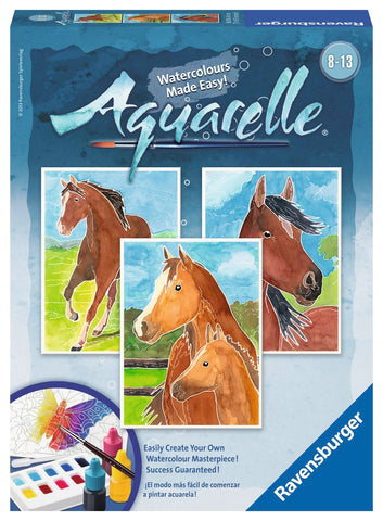 Aquarelle 3  WaterColor Paintings Arts & Crafts Kit by Ravensburger - Horses
