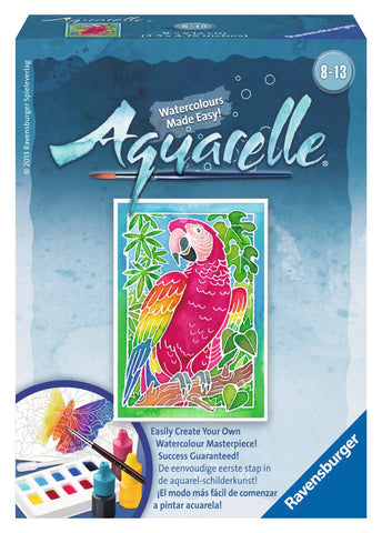 Aquarelle Mini  WaterColor Arts & Crafts Kit by Ravensburger PARROT