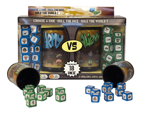 Army Versus Aliens Dice Rolling Game