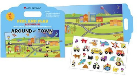 Mrs Grossman's Stickers - Around The Town Peel & Play Activity Set