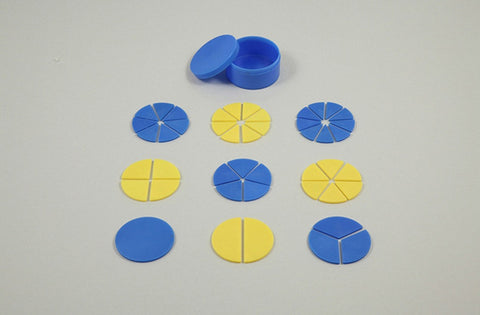 Round Fraction Demonstrator (Small) Kit for Mathematics by Artec