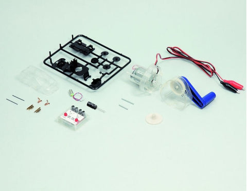 Miniature Car with Capacitor: Electrical Storage Experiment Kit by Artec