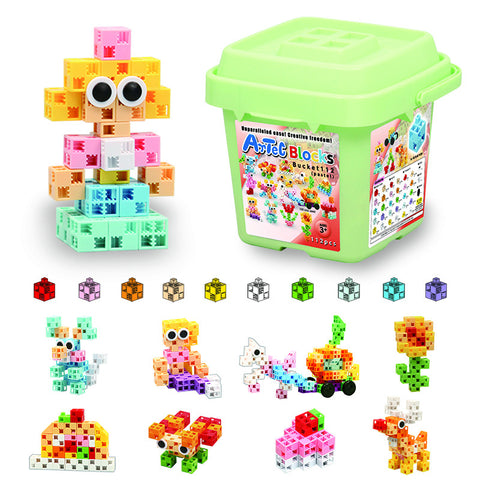 Pastel Bucket 112 Piece Artec Blocks