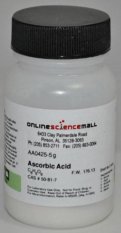 Ascorbic Acid Crystalline Powder, 5g - Chemical Reagent