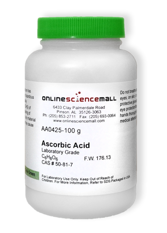 Ascorbic Acid Powder Lab Grade, 100g - Chemical Reagent