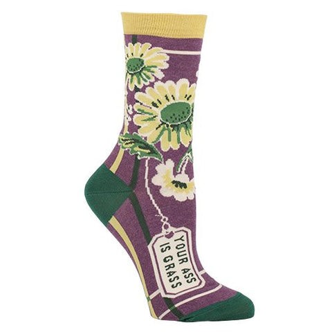 Your A** is Grass Women's Dress Socks by Blue Q