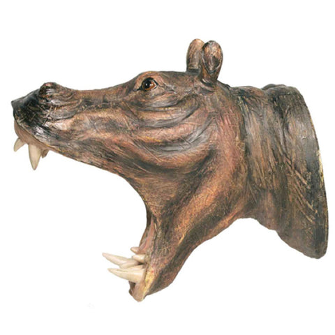 Hippo Attack Wall Hook Hanging Art  Plaque