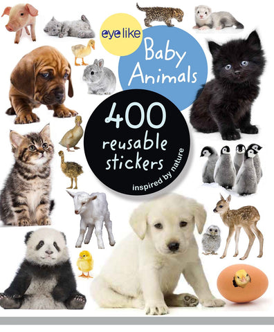 Eyelike Sticker Book: Baby Animals w/400 Reusable Stickers