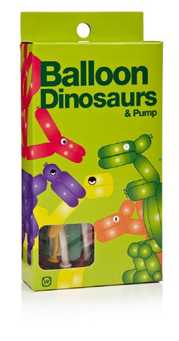 Balloon Dinosaurs Kit with Pump - Create 7 Different Prehistoric Animals
