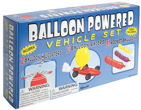 Balloon Powered Vehicle Set w Pump Balloons Acceleration
