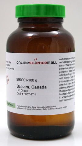 Natural Canada Balsam, Paper Filtered, 100g - Lab Grade Chemical Reagent