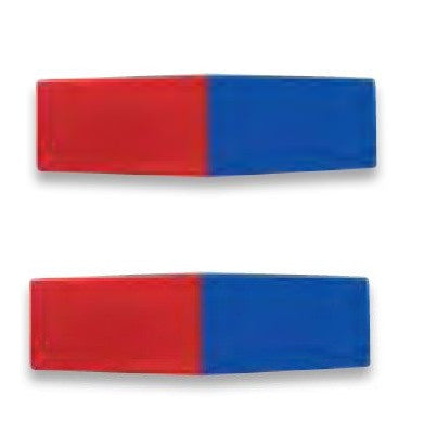 North/South 3.25 Inch Bar Magnets Set of 2 Plastic Encased