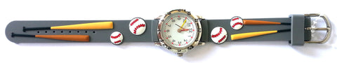 The Kids Watch Company Baseball Watch One Size Grey Band