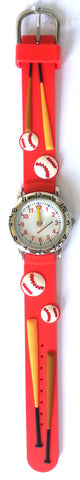 The Kids Watch Company Baseball Watch One Size Red Band