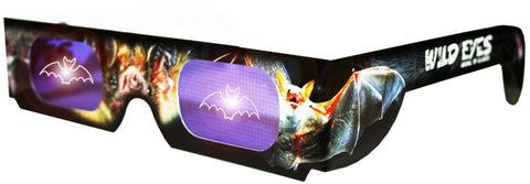 Holographic Bat Wild Eyes 3D Paper Glasses