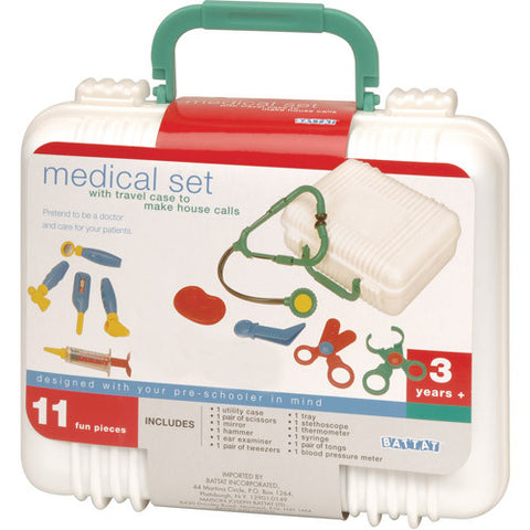 Battat Medical Kit With Travel Case