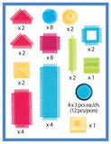 50pc Bristle Blocks Basic Builder Bucket