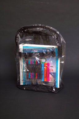 Clear Vinyl Backpack-Back-to School