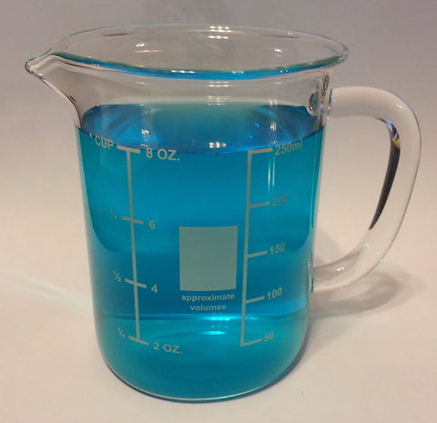 250mL Glass Beaker Mug with Pouring Spout