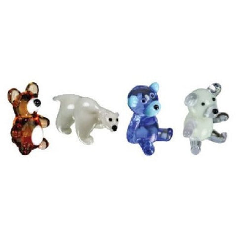 Looking Glass Torch Miniature Figurines - Set of 4 Bear Sculptures