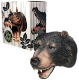 Bear Attack Wall Hook Hanging Art Plaque