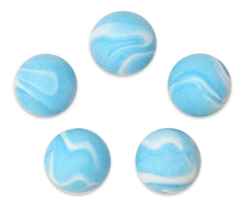 "1"" Frostberry Mega Marble 25mm Shooters - Pack of 5 w/Stands"