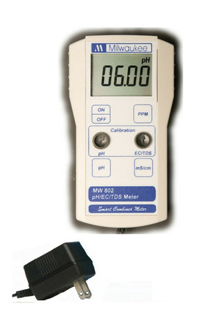 BEM802 pH/EC/TDS Combination Mini-Bench Meter, by Milwaukee Instriments