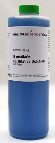 Benedict's Solution, Qualitative, 500mL - Lab Grade Chemical Reagent