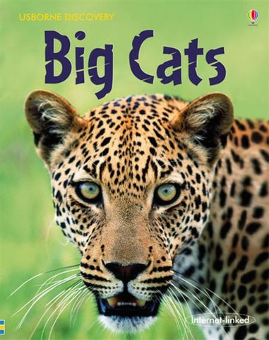 Usborne Discovery: Big Cats Book with Pictures and Photos
