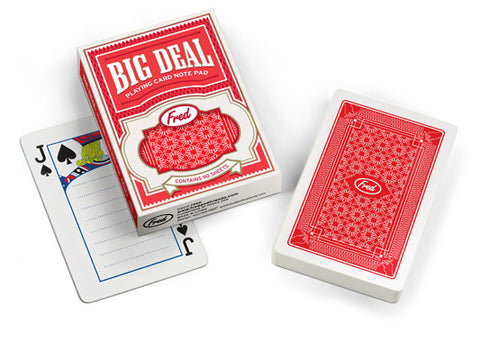 Big Deal Playing Card Note Pad 90 Sheets
