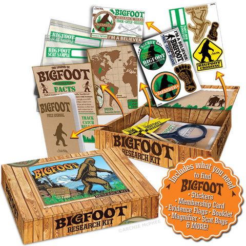 The Bigfoot Research Kit w/Magnifier, Evidence Flags, & More - by Accoutrements