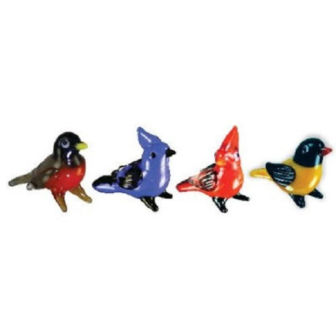 Looking Glass Miniature Collectible - Robin, Jay, Cardinal, Oriole (4-Pack)
