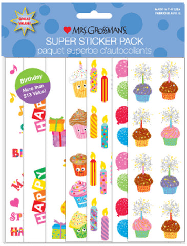 Mrs Grossman's Stickers - Super Pack - Birthday